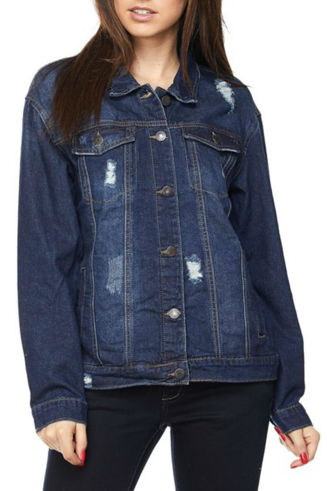 Wax Jean Distressed Denim Jacket - Main Image