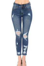Wax Jean Distressed High-Rise Pushup - Product Mini Image