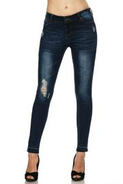 Wax Jean Frayed Skinny Denim - Product Mini Image