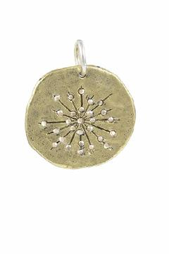 Shoptiques Product: Brass Starburst Pendant