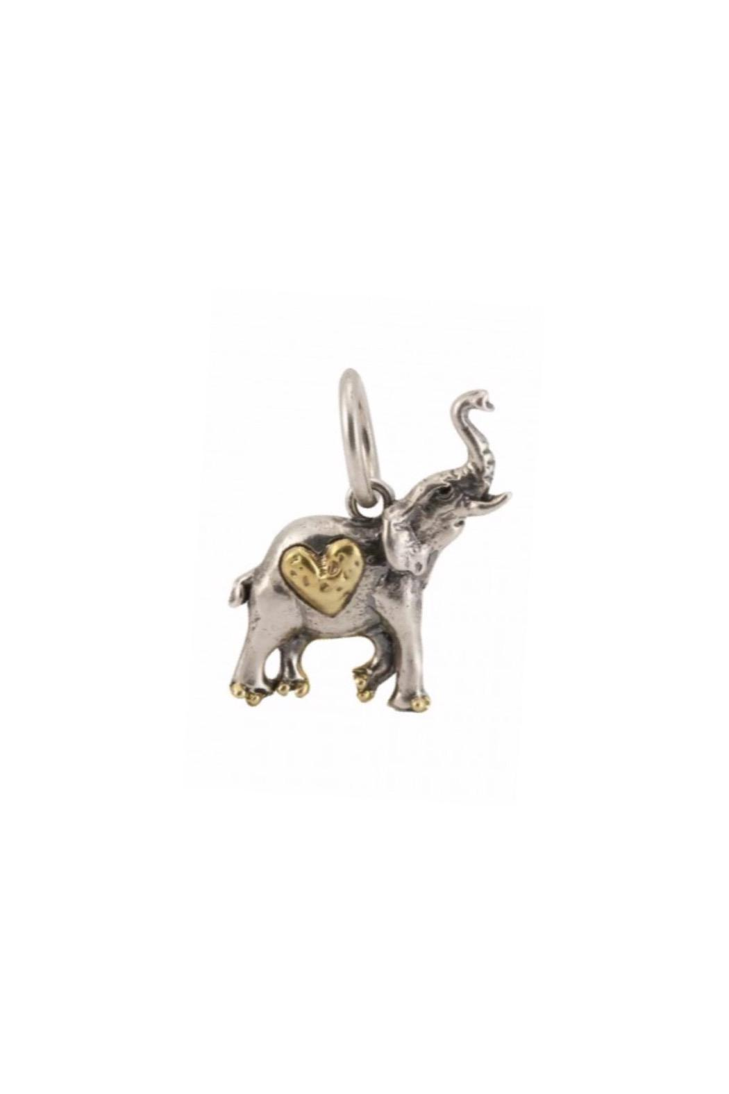 Waxing Poetic Elephant Charm - Main Image