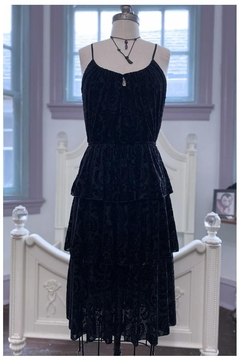 Waxing Poetic Velvet-Damask Claudette Dress - Product List Image