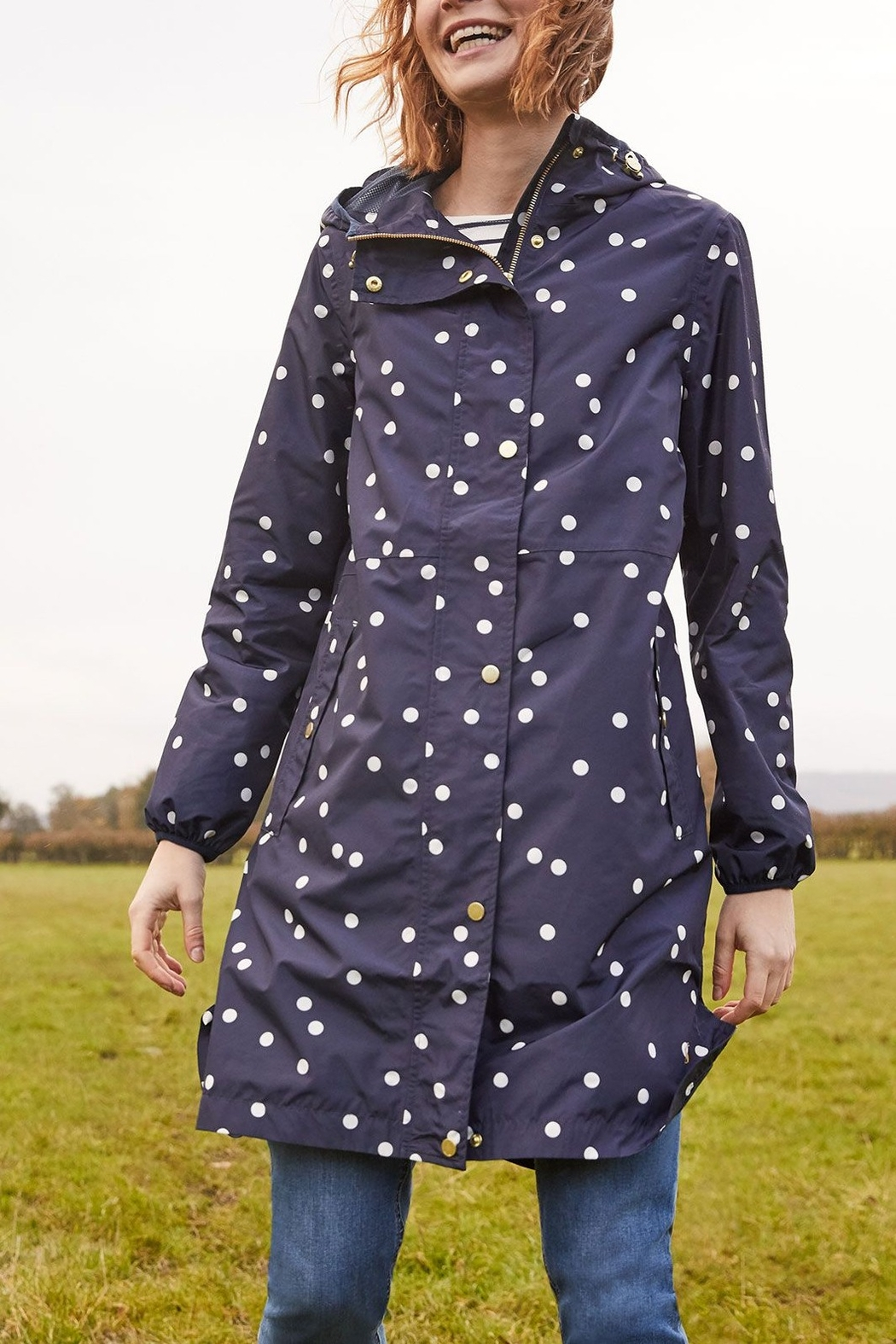 Joules Waybridge Relaxed Fit Waterproof Raincoat - Front Cropped Image