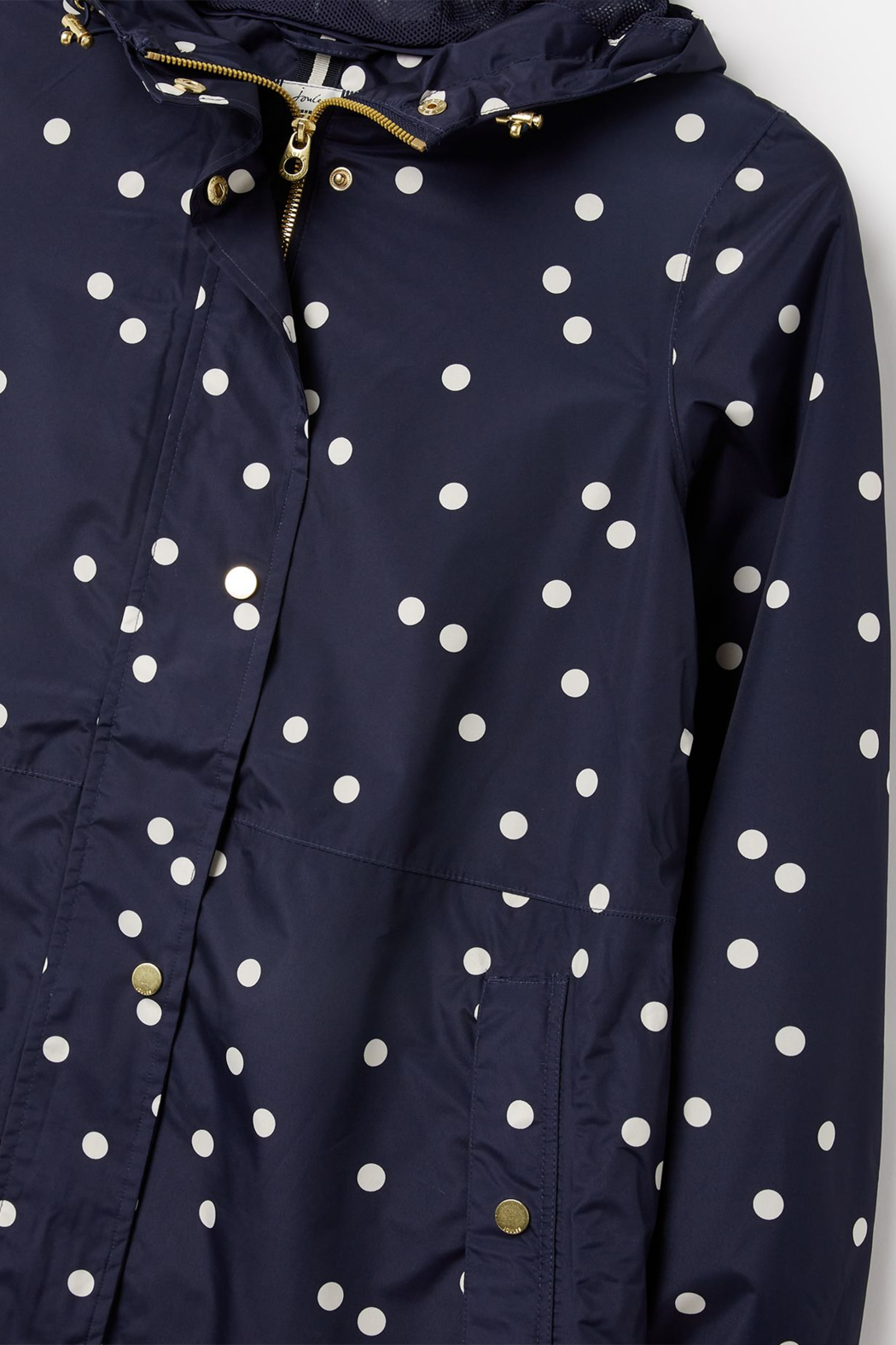 Joules Waybridge Relaxed Fit Waterproof Raincoat - Back Cropped Image