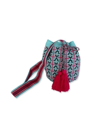 Wayuu Women Project Pink & Blue Mochila - Product Mini Image