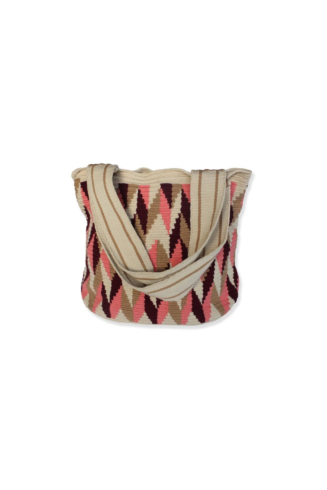 Wayuu Women Project Pink & Brown Totebag - Front Cropped Image