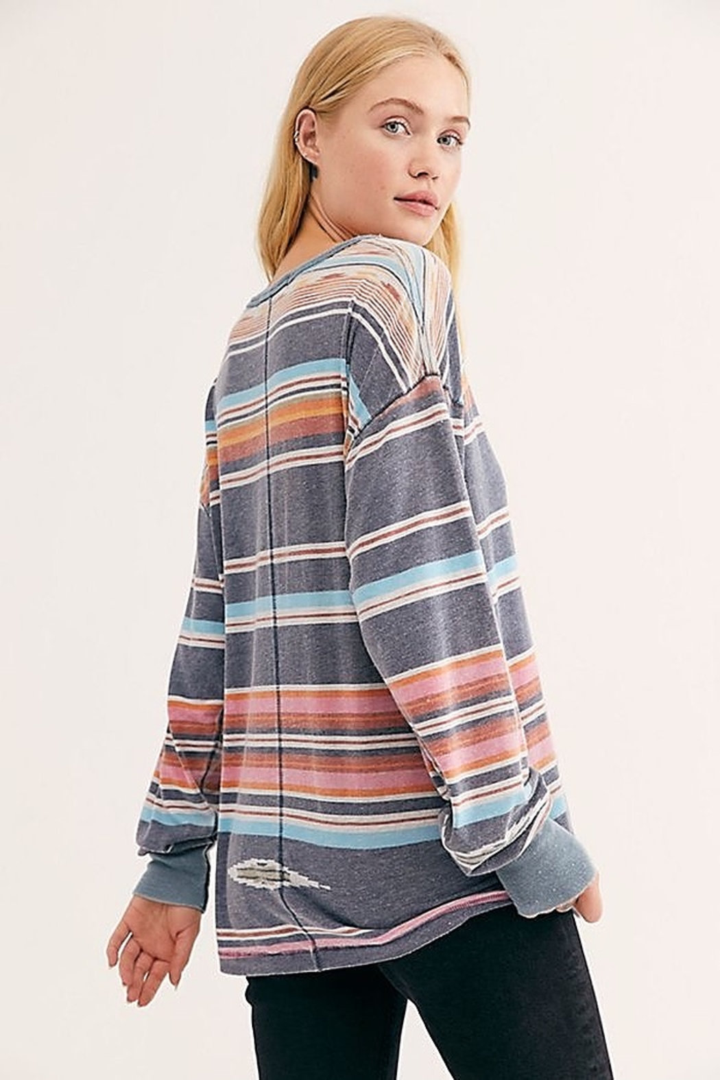 Free People We the Free Arielle Printed Long Sleeve Combo - Front Full Image
