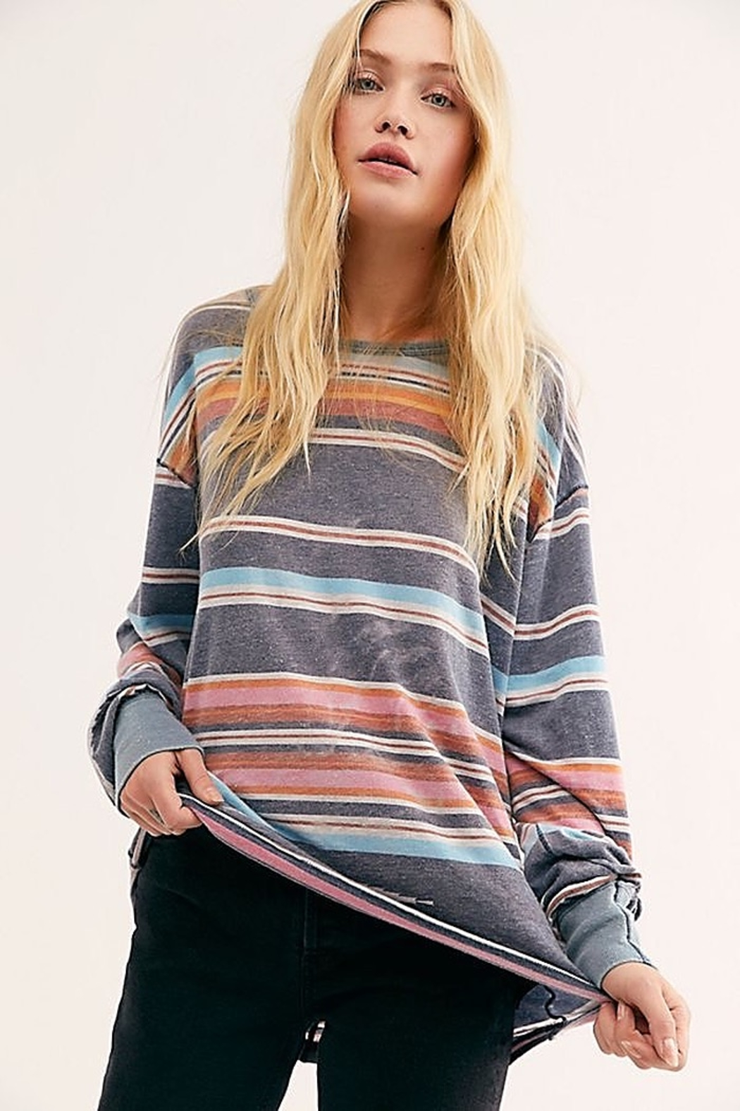 Free People We the Free Arielle Printed Long Sleeve Combo - Main Image