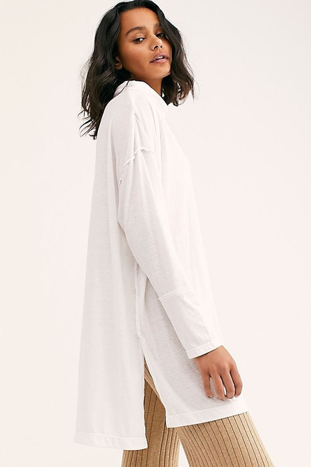 Free People We the Free Bella Vista Thermal White - Side Cropped Image