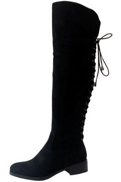 Shoptiques Product: Lace Up Boots Black