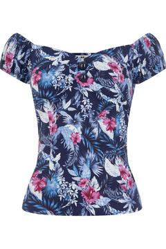 Wears London - Collectif Dolores Hibiscus Top - Product List Image