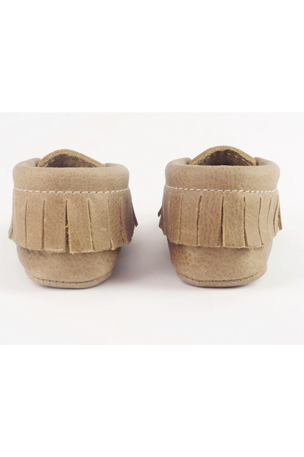 Freshly Picked Weathered Brown Moccasins - Side Cropped Image