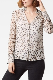 Ecru Weaver Shirt with Tie - Front cropped
