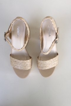 Soda Weaving With Cork Detail Heels - Product List Image