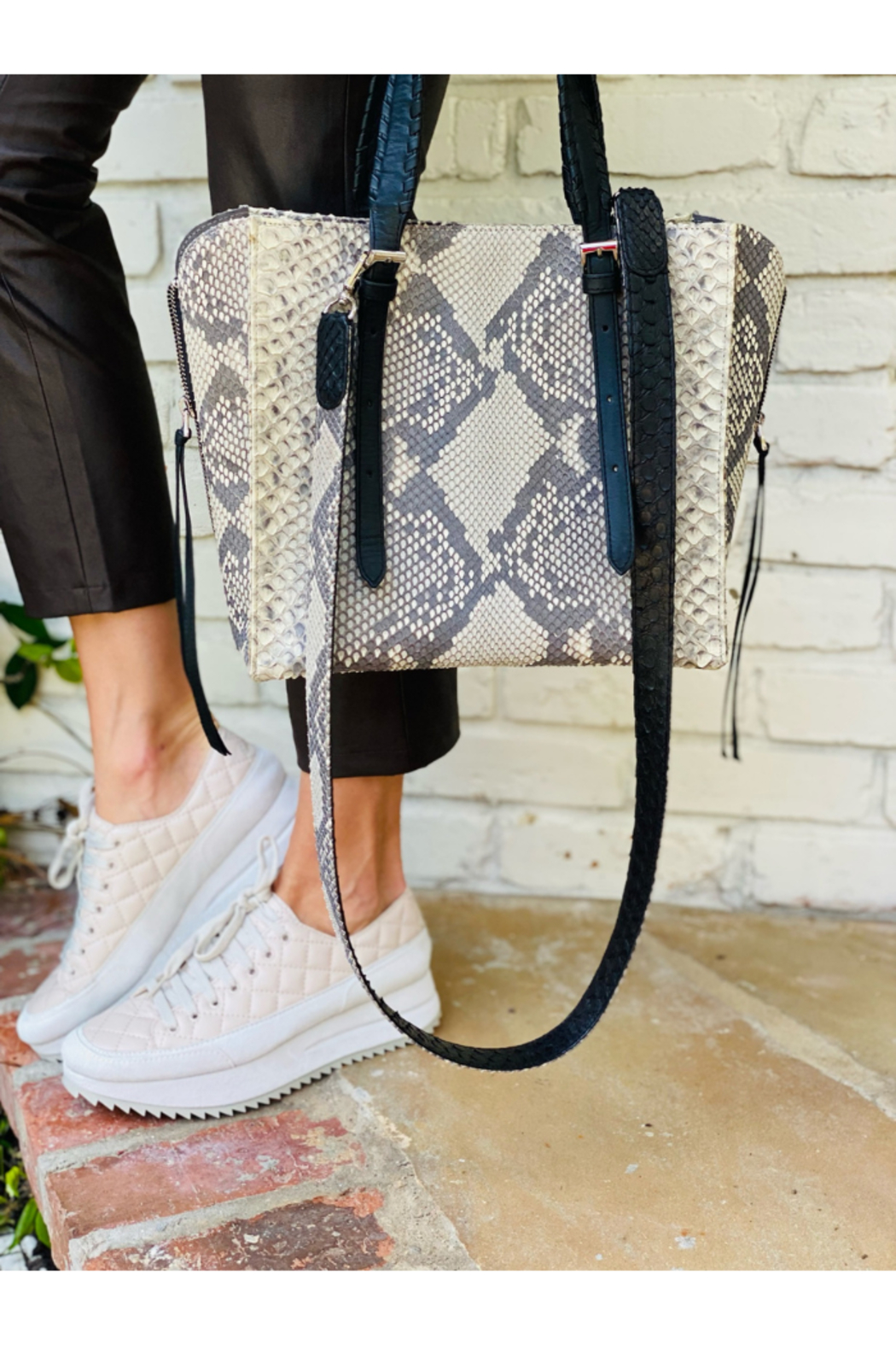 Pedro Garcia Wedge Frappe Sneakers - Front Full Image