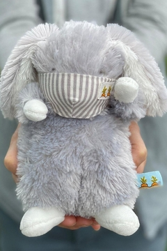 Bunnies by the Bay Wee Bloom with Gray Pinstripe Face Mask - Alternate List Image