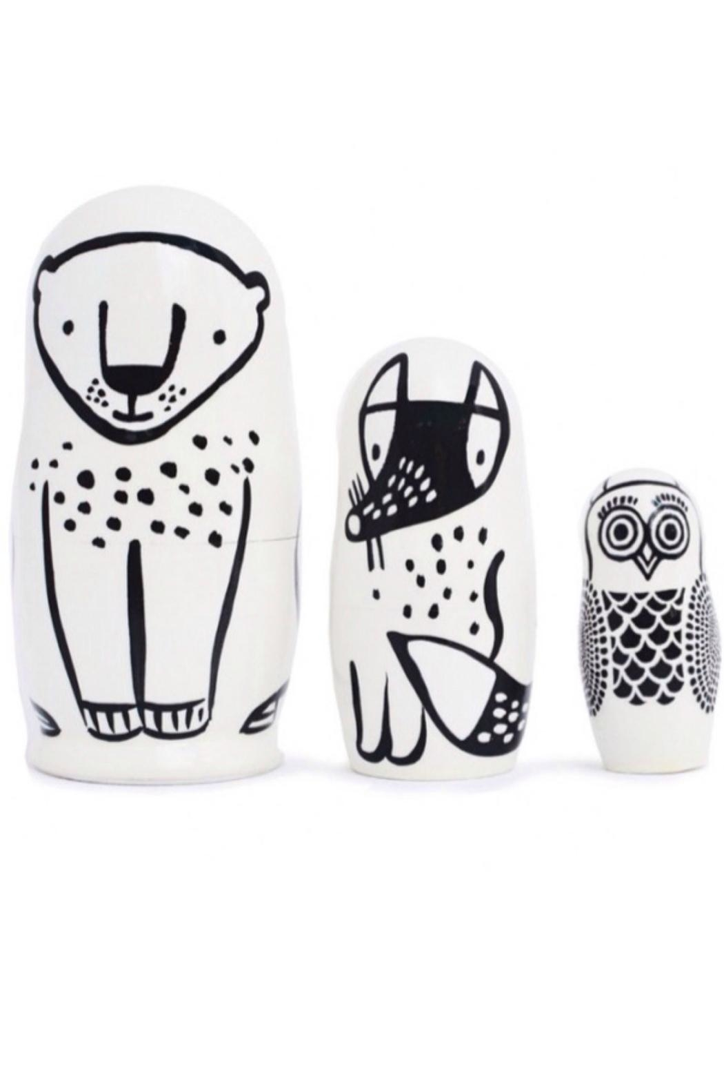 Wee Gallery Wooden Nesting Dolls - Main Image