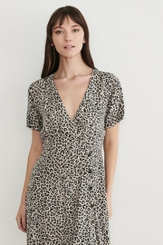 WEEK& Clothing Los Angwle Leopard Skater Dress - Front cropped