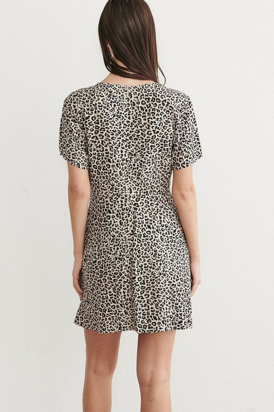 WEEK& Clothing Los Angwle Leopard Skater Dress - Front Full Image