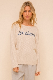 Hem and Thread Weekend Boat Neck Sweater - Product Mini Image