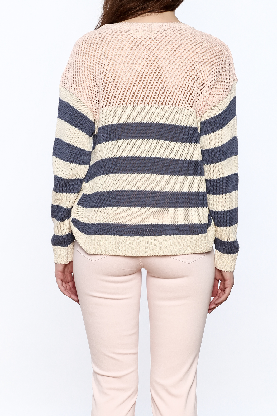 Weekend by Aldo Martins Summer Nautical Sweater - Back Cropped Image
