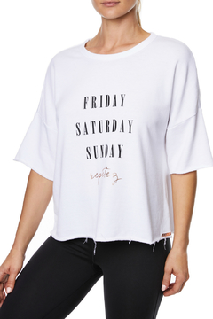 Betsey Johnson Weekend Repetez Boxy Top - Product List Image