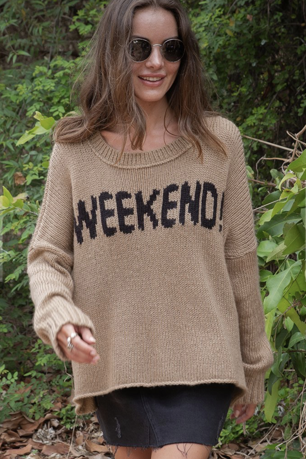 Wooden Ships Weekend Slouchy Pullover - Front Full Image