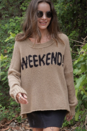 Wooden Ships Weekend Slouchy Pullover - Front full body