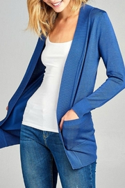 Active Basic Weekender Blue Cardigan - Product Mini Image