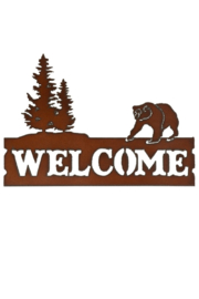 Rustic Ironwerks Welcome Bear Sign - Product Mini Image