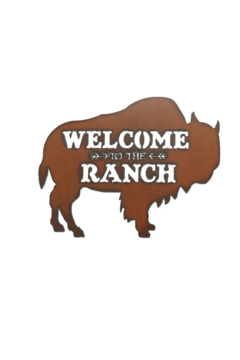 Rustic Ironwerks Buffalo Silhouette Ranch Sign - Product List Image