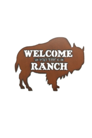 Rustic Ironwerks Buffalo Silhouette Ranch Sign - Product Mini Image