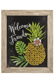 Ganz Welcome Pineapple Plaque - Product Mini Image