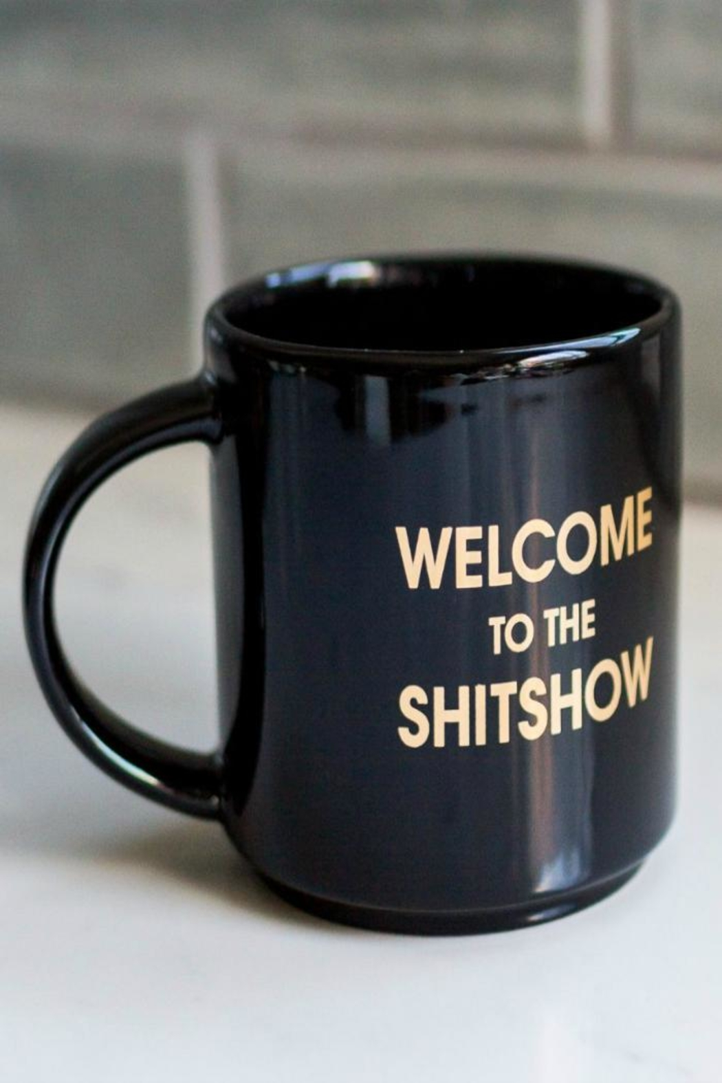 MERIWETHER Welcome Sh*t Mug - Front Cropped Image