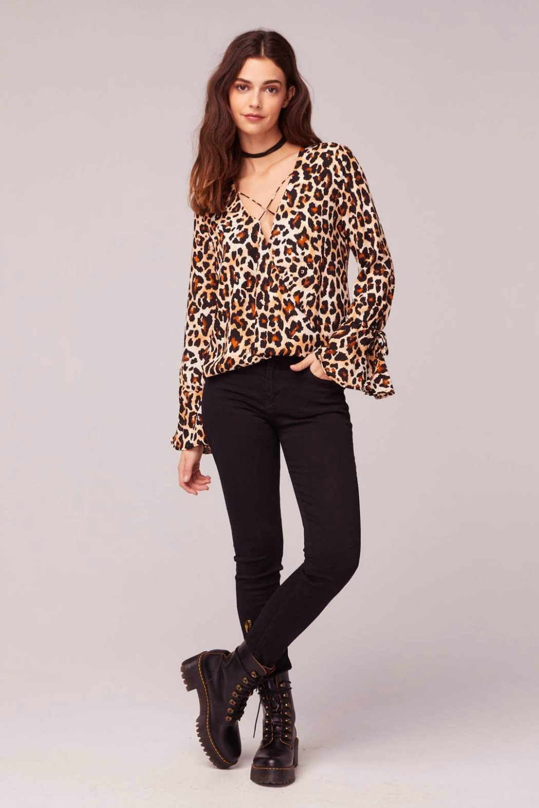 Band Of Gypsies WELCOME TO THE JUNGLE BLOUSE - Front Full Image