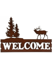 Rustic Ironwerks Welcome w/ Elk Sign - Product Mini Image