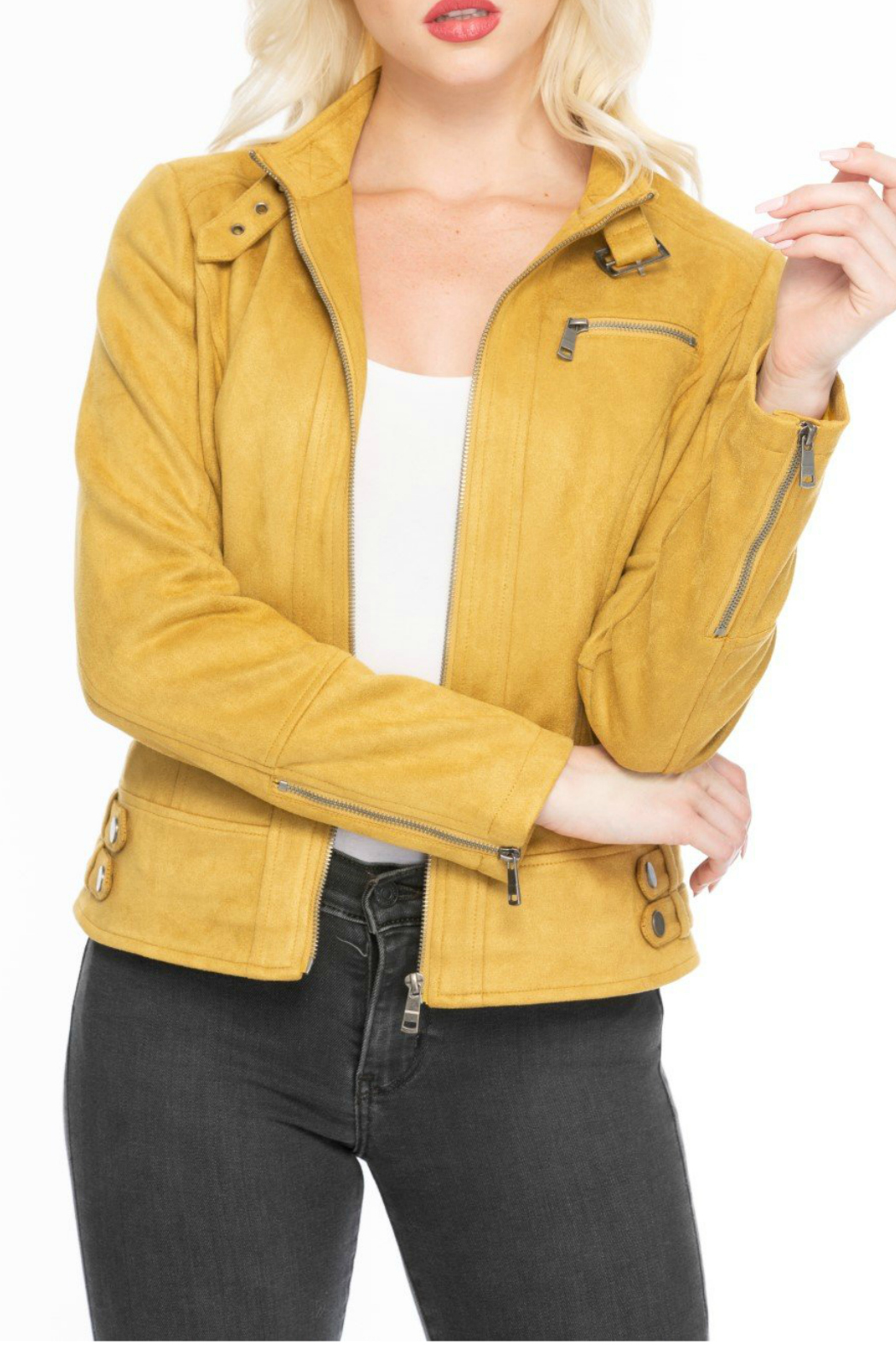 Coalition Well suede jacket - Main Image