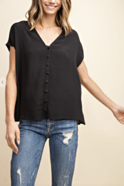 Mittoshop Wendy Woven V-Neck Top - Product Mini Image