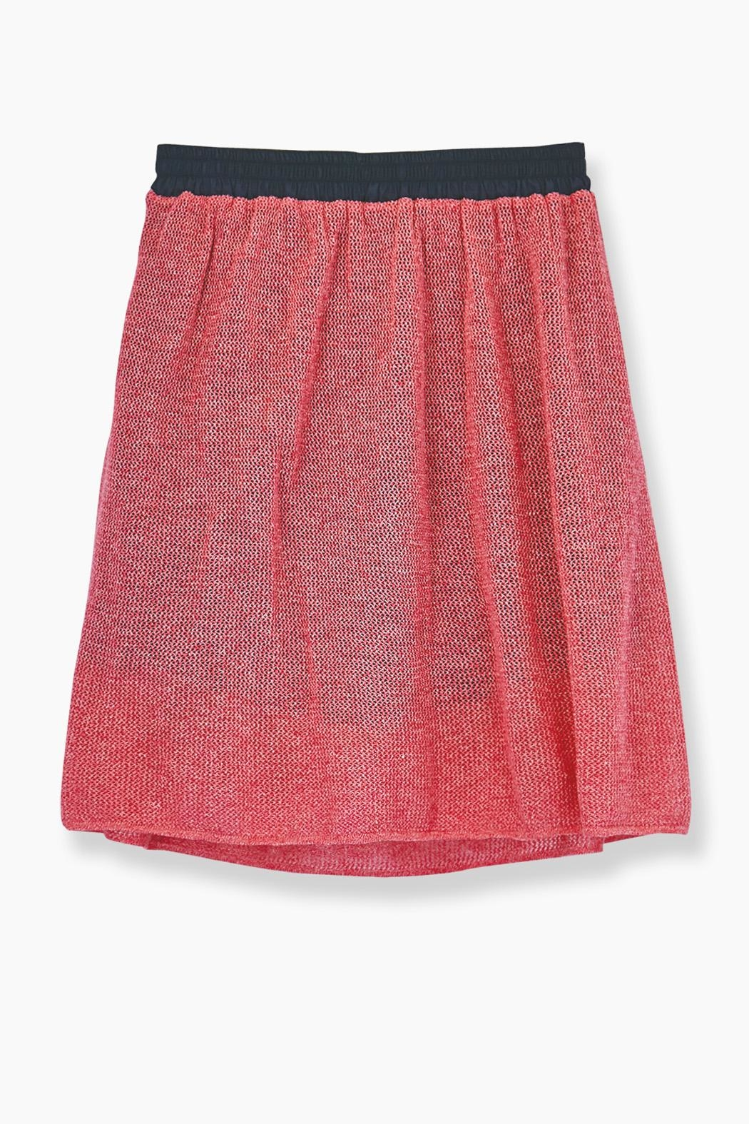 WENHUA DUVERGÉ Pink Organic Cotton Skirt - Back Cropped Image