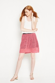 WENHUA DUVERGÉ Pink Organic Cotton Skirt - Front full body