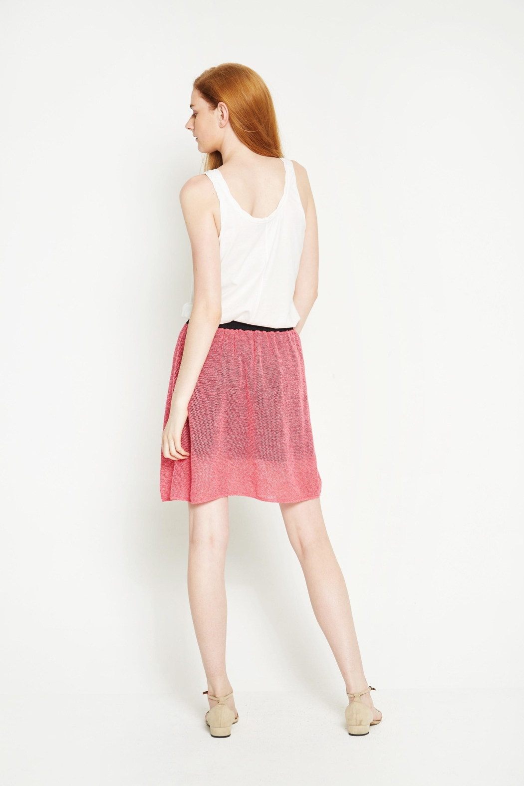 WENHUA DUVERGÉ Pink Organic Cotton Skirt - Side Cropped Image
