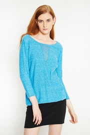 WENHUA DUVERGÉ Blue Organic Cotton Sweater - Side cropped