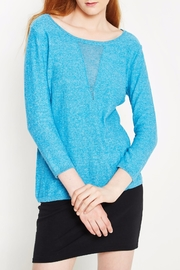 WENHUA DUVERGÉ Blue Organic Cotton Sweater - Product Mini Image