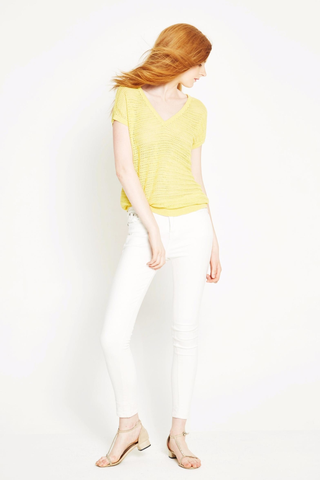 WENHUA DUVERGÉ Yellow Organic Cotton Sweater - Front Full Image