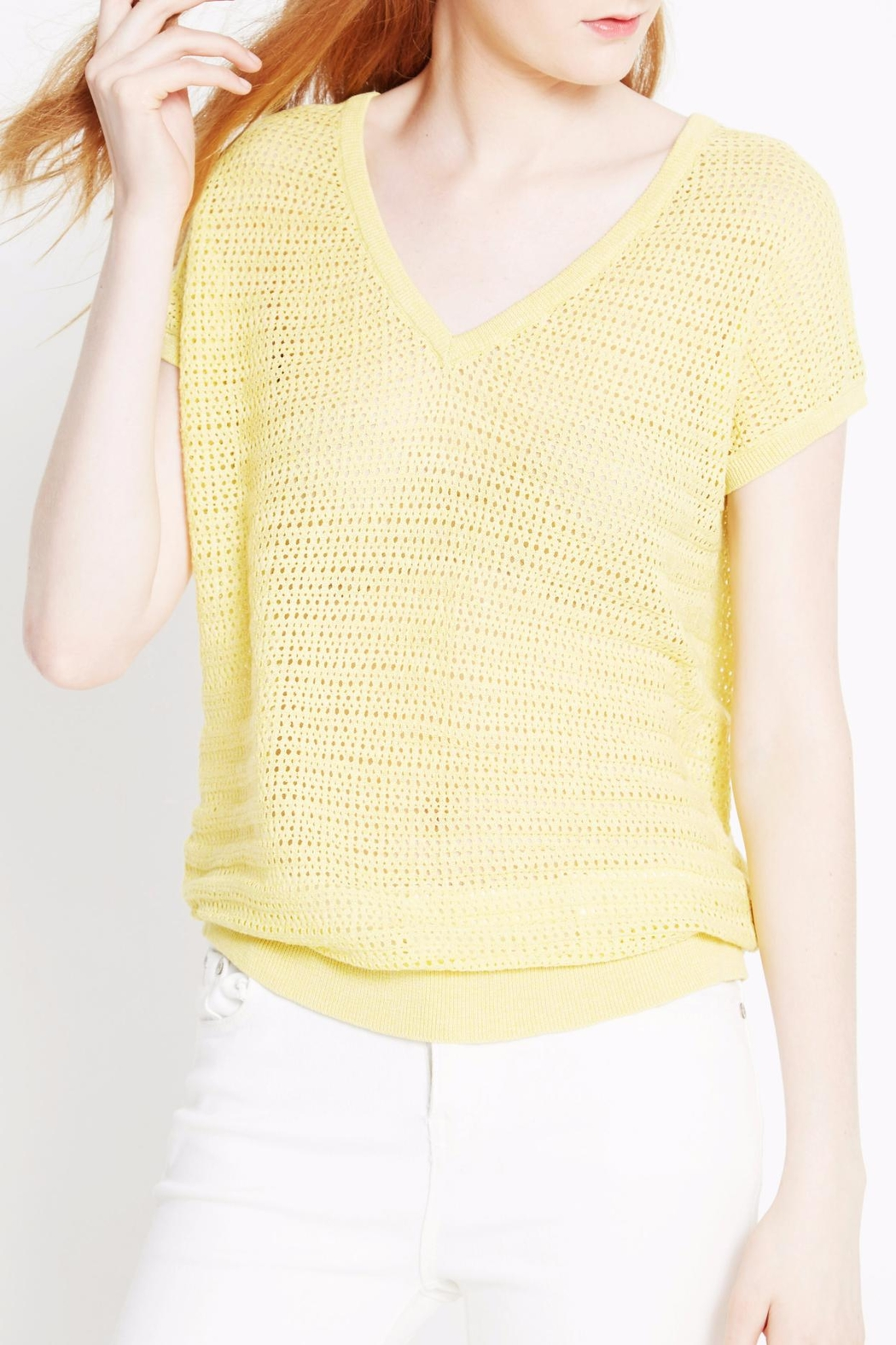 WENHUA DUVERGÉ Yellow Organic Cotton Sweater - Main Image