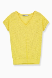 WENHUA DUVERGÉ Yellow Organic Cotton Sweater - Back cropped