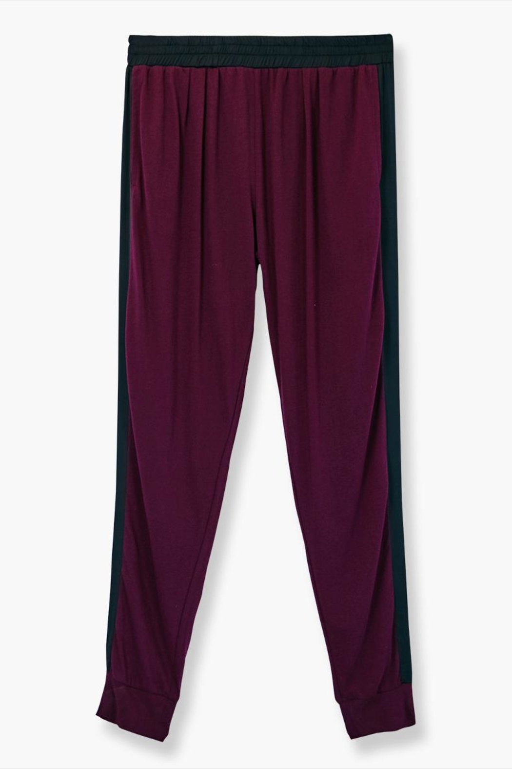 WENHUA DUVERGÉ Red Organic Cotton Sweatpants - Back Cropped Image
