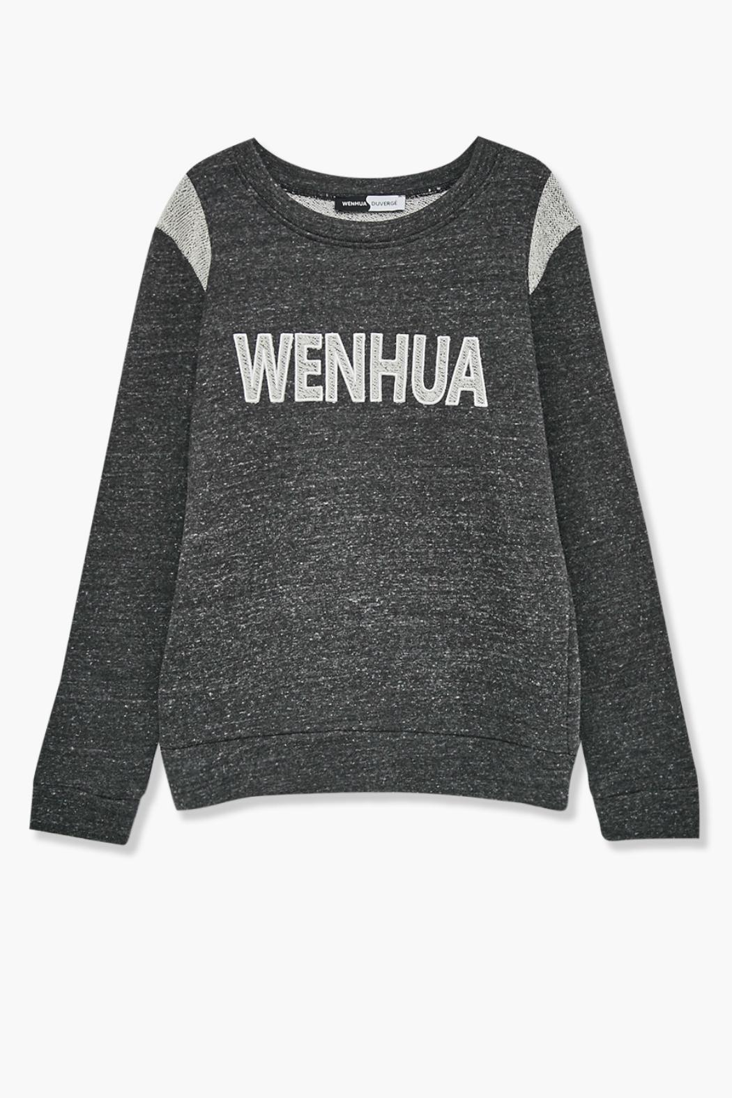 WENHUA DUVERGÉ Organic Cotton Sweatshirt - Back Cropped Image