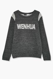 WENHUA DUVERGÉ Organic Cotton Sweatshirt - Back cropped