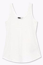 WENHUA DUVERGÉ White Organic Tank Top - Back cropped